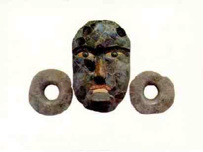 Mayas Mascaras de Jade Máscara Funeraria de Jade Con